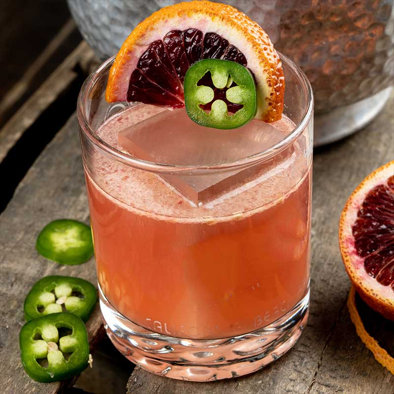 Blood Orange Jalapeño Margarita